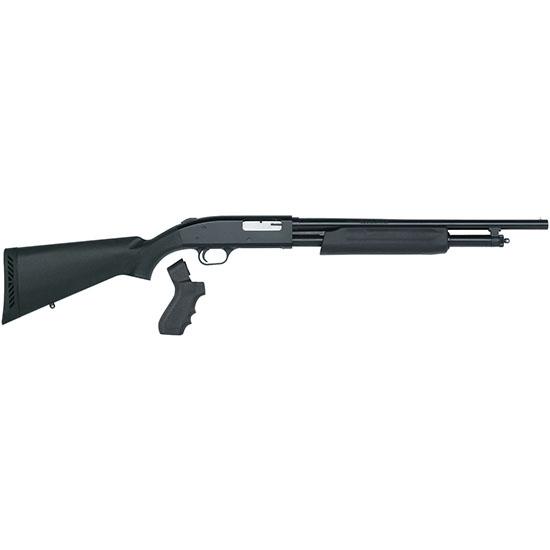 Mossberg 50452 500 Tactical Pump 20 Gauge 18.5 3 in.  5+1 Synthetic Black w|Pistol Grip Blued in.