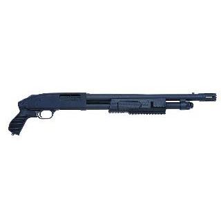 Mossberg 50673 500 FLEX Tactical Pump 12 Gauge 18.5 CB 3 in.  5+1 Synthetic Pistol Grip Black Stk Blued in.