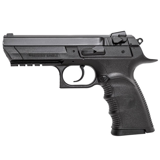 Magnum Research BE94133RL Baby Desert Eagle III 40 Smith & Wesson (S&W) Single Double 4.4 12+1 Black Polymer Grip Frame Grip Black Carbon Steel Slide in.