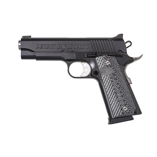 Magnum Research DE1911C Desert Eagle 1911 C Single 45 Automatic Colt Pistol (ACP) 4.33 8+1 Wood Grip Black Carbon Steel in.