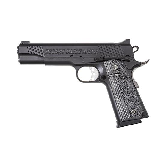 Magnum Research DE1911G Desert Eagle 1911 G Single 45 Automatic Colt Pistol (ACP) 5.1 8+1 Black Gray G10 Grip Black Carbon Steel in.