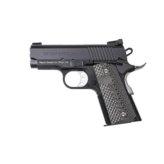 Magnum DE1911U9 Desert Eagle 1911 Undercover Single 9mm 3 8+1 Black|Gray G10 Grip Black in.
