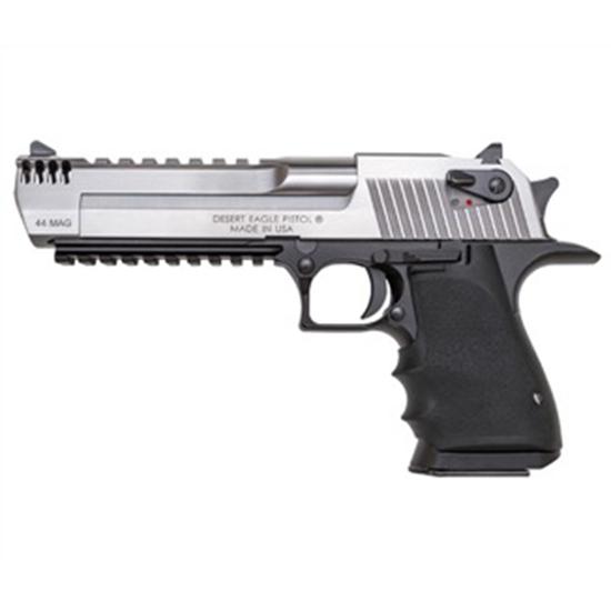 Magnum Research DE44ASIMB Desert Eagle Single 44 Remington Magnum 6 8+1 Black Polymer Grip Stainless Steel in.