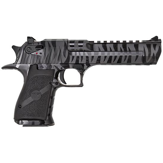 Magnum Research DE50BTS Desert Eagle Single 50 Action Express (AE) 6 7+1 Black Polymer Grip Black Tiger Stripe in.