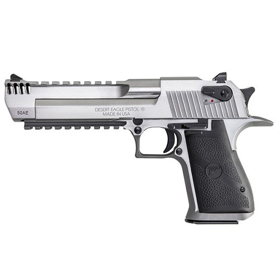 Magnum Research DE50SRMB Desert Eagle Mark XIX 50AE Single 50 Action Express (AE) 6 MB 7+1 Black Synthetic Grip Stainless Steel in.