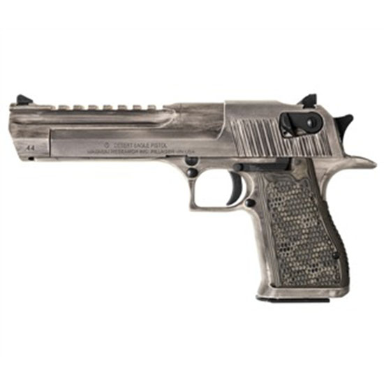 Magnum Research DE50WMD Desert Eagle Mark XIX Single 50 Action Express (AE) 6 7+1 Distressed G10 Grip Distressed White Cerakote in.