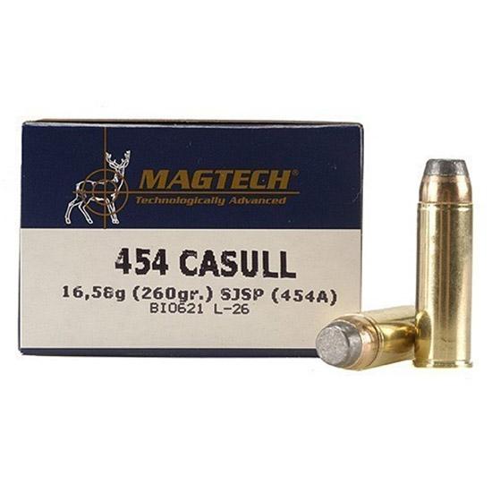 Magtech 454A Sport Shooting 454 Casull 260 GR Semi-Jacketed Soft Point Flat 20 Bx  50 Cs