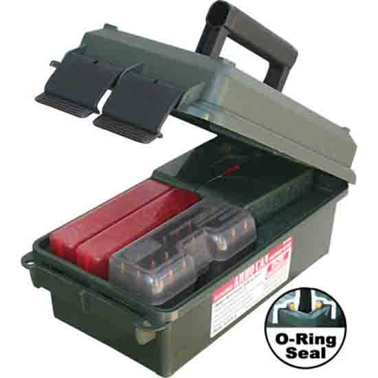 MTM AC30C11 Ammo Can 30 Caliber 7.4x13.5 in. x5.1 in.  Poly Forest Green in.