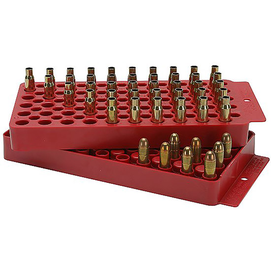 MTM LT150M30 Universal Loading Tray All Handgun|Rifle 50rds Red