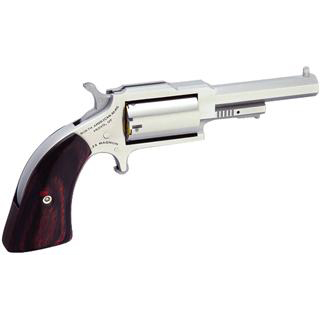 NAA 1860250C 1860 Sheriff with 22 LR Cylinder Single 22 Winchester Magnum Rimfire (WMR) 2.5 5 Wood Black in.