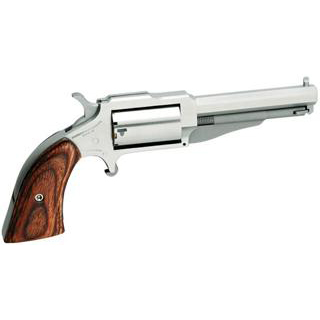 NAA 19603C 1860 Earl 22 Mag|22LR 3 5rd Wood Grip Stainless Finish in.