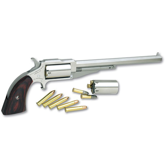 NAA 18606C 1860 Hogleg 6 with 22 LR Cylinder Single 22 Winchester Magnum Rimfire (WMR) 6 in.  5 Wood Stainless in.