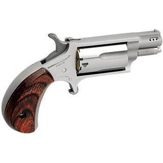 NAA NAA22MSCP 22 Magnum Ported 1.125 with 22 LR Cylinder Single 22 Winchester Magnum Rimfire (WMR) 1.1 in.  5 Rosewood Stainless in.