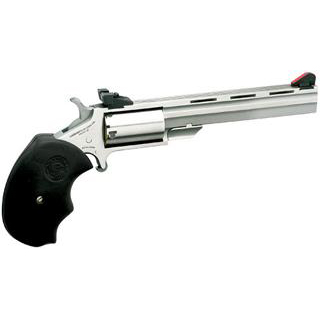 NAA MMTC Magnum Mini Master Single 22 Winchester Magnum Rimfire (WMR) 4 5 Black Rubber Black in.