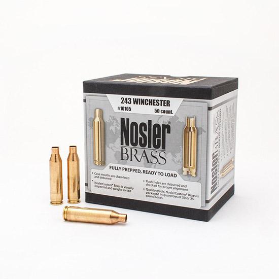 Nosler 10105 Brass Nosler 243 Winchester
