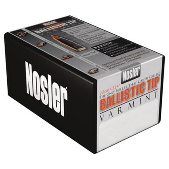 Nosler Ballistic Tip Varmint Bullets 22 Cal .224 Diameter 55 Grain Box of 1000
