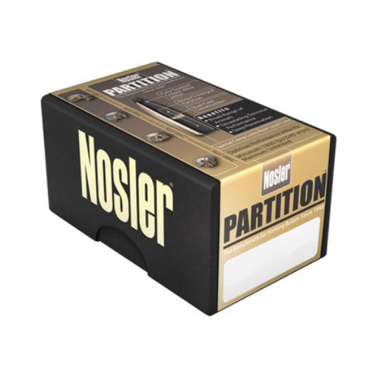 Nosler 16319 Partition Spitzer 6.5mm .264 100 GR 50 Per Box