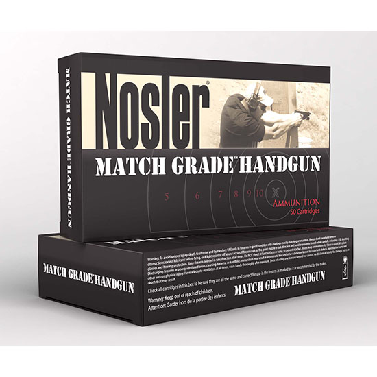 Nosler 51181 Match Grade 40 S&W Jacketed Hollow Point 150 GR 50Box|10Case