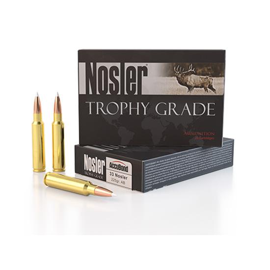 Nosler 60098 Trophy Grade 33 Nosler 225 GR Partition 20 Bx| 10 Cs