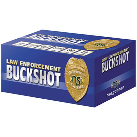 Nobel Sport Buckshot 2 3/4 inch 12 Gauge 00 Buckshot 12 Pellets 10 Rounds