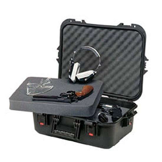 Plano 108021 All Weather Pistol|Accessory Hard Case Plastic Black w|Latches