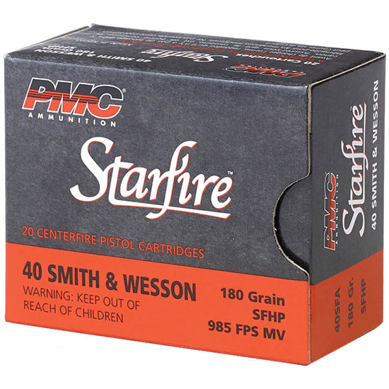 PMC 40SFA Starfire Gold Line 40 S&W Starfire Hollow Point 180GR 20Box|50Case