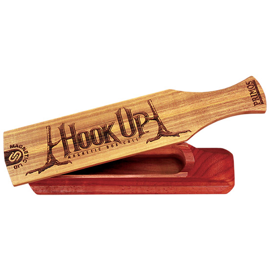Primos 259 Hook Up Turkey Magnetic Box Call with Gobble Band