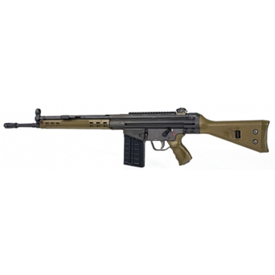 PTR 101 GIR Semi-Automatic 308 Winchester|7.62 NATO 18 20+1 Synthetic Green Stk Black Parkerized in.