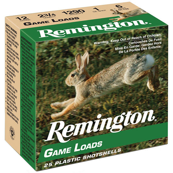 Rem GL126 Promo Game Loads 12 ga 2.75 1 oz 6 Shot 25Box|10Case in.