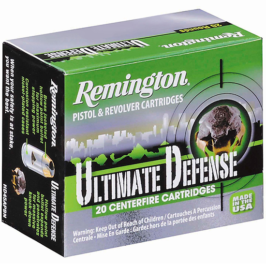Remington Ultimate Defense Full Sized Handgun Ammunition .357 Mag 125 gr JHP 1220 fps 20|ct