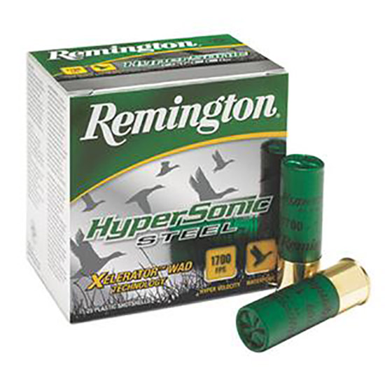 Rem HSS124 HyperSonic Steel 12 ga 3 1-1|8 oz 4 Shot 25Box|10Case in.