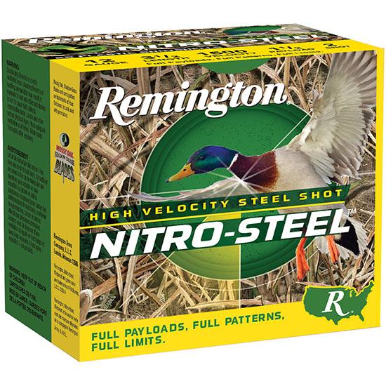 Remington Ammunition NS12S2 Nitro Steel 12 Gauge 2.75in. 1 1/4 oz 2 Shot 25 Bx/ 10 Cs