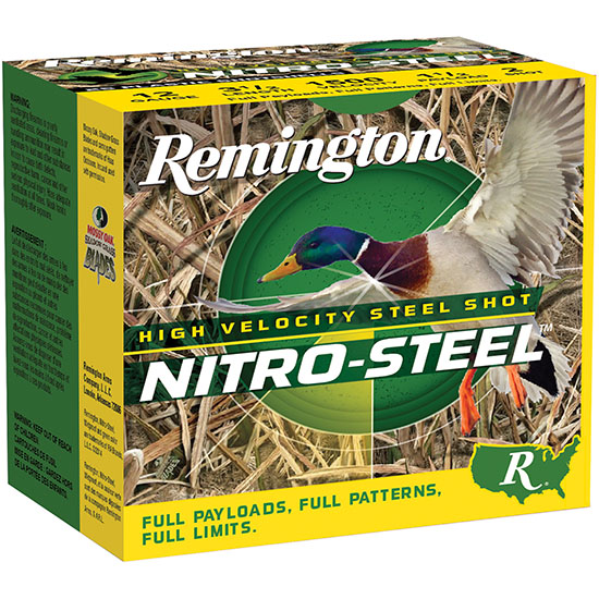Remington Ammunition NS12S4 Nitro Steel 12 Gauge 2.75in. 1 1/4 oz 4 Shot 25 Bx/ 10 Cs