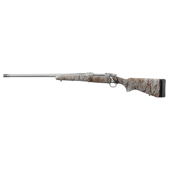 Ruger 47173 Hawkeye FTW Hunter Bolt 375 Ruger 22 3+1 Laminate Natural Gear Camo Stk Stainless Steel in.