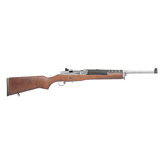 Ruger 5804 Mini-Thirty Autoloader Semi-Automatic 7.62x39mm 18.5 5+1 Hardwood Stk Stainless Steel in.
