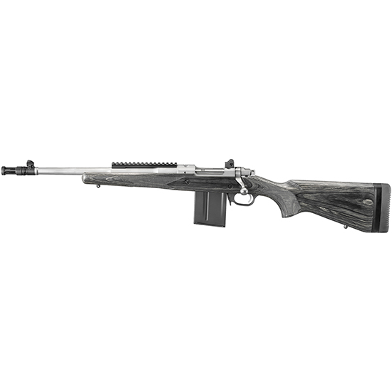 Ruger 6828 Gunsite Scout LH Bolt 223 Remington 5.56 NATO 16.1 10+1 Laminate Black Stk Stainless Steel in.