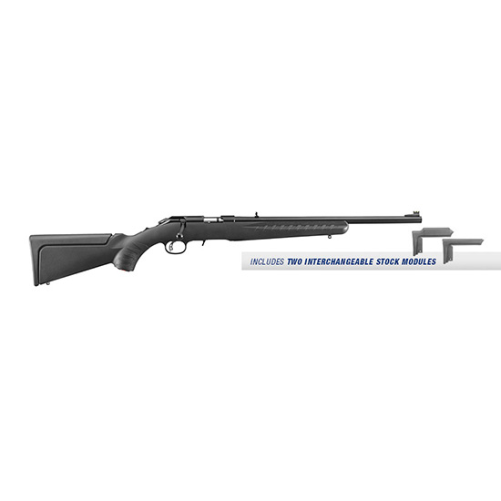 Ruger 8313 American Rimfire Compact Bolt 17 Hornady Magnum Rimfire (HMR) 18 9+1 Synthetic Black Stk Blued in.