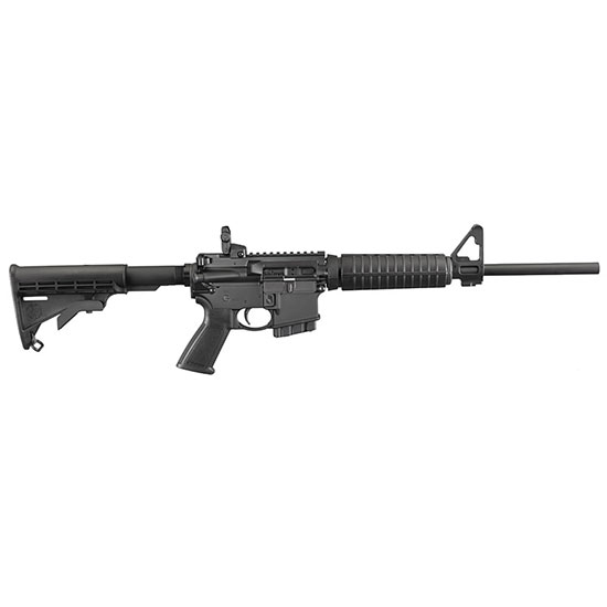 Ruger 8502 AR-556 Fixed Stock Semi-Automatic 223 Remington 5.56 NATO 16 10+1 Fixed Synthetic Black Stk Black Hard Coat Anodized in.