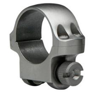 Ruger 90281 Clam Pack Single Ring Low 1 Diameter Stainless Steel in.