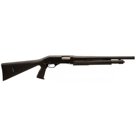 Stevens 19485 320 Security Pump 12 Gauge 18.5 3 in.  Synthetic w|Pistol Grip Black Stk Black in.