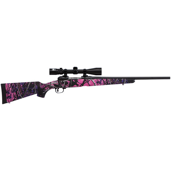 Savage 22206 11 Trophy Hunter XP Youth Bolt 243 Winchester 20 4+1 Synthetic Muddy Girl Stk Black in.