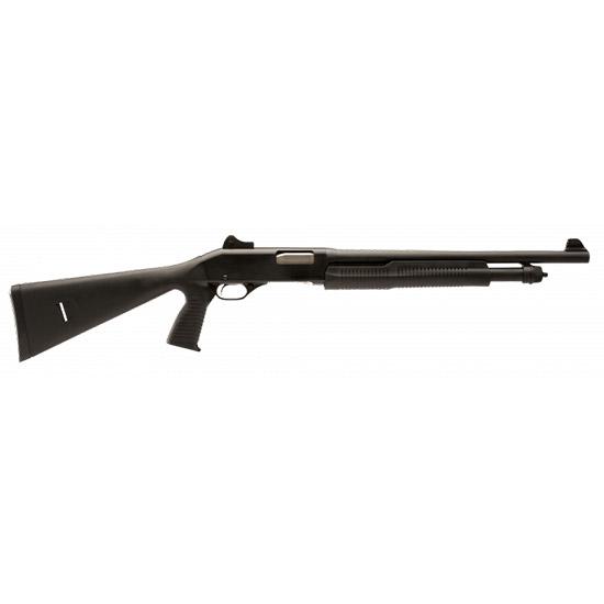 Stevens 22439 320 Security Pump 20ga 18.5 3 in.  GRS Blk Syn w|Pistol Grip in.