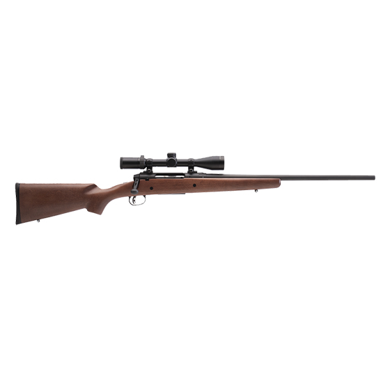 Savage 22551 Axis II XP with Scope Bolt 243 Winchester 22 4+1 Hardwood Stk Blued in.