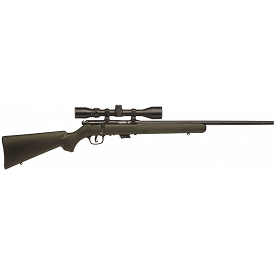 Savage 26721 Mark II FXP with Scope Bolt 22 Long Rifle 21 5+1 Synthetic OD Green Stk Black in.