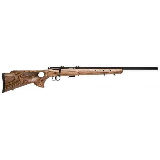 Savage 28750 Mark II BTV Bolt 22 Long Rifle 21 5+1 Laminate Thumbhole Brown Stk Blued in.