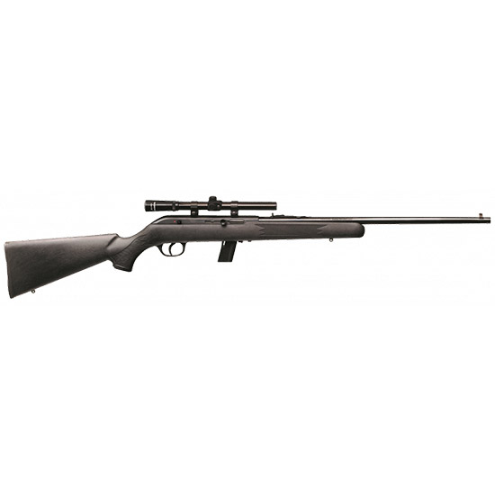 Savage 40000 64 FXP with Scope Semi-Automatic 22 LR 21 10+1 Synthetic Black Stk Blued in.