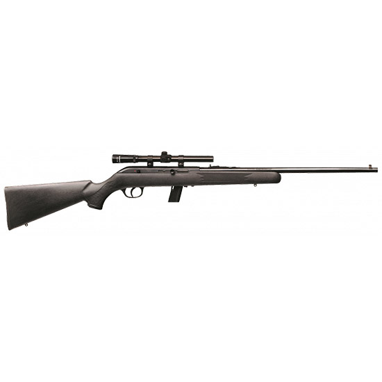 Savage 40061 64 FXP with Scope LH Semi-Automatic 22 LR 21 10+1 Synthetic Black Stk Blued in.