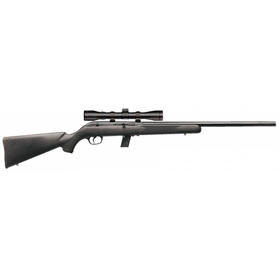 Savage 45100 64 FVXP with Scope Semi-Automatic 22 LR 20.5 10+1 Synthetic Black Stk Blued in.