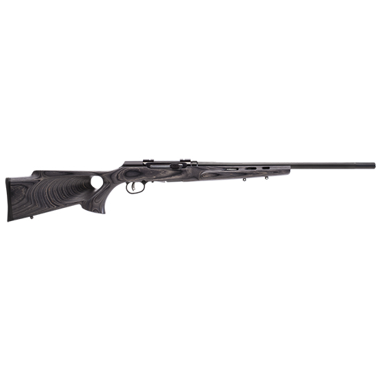 Savage 47005 A17 Target Thumbhole Semi-Automatic 17 HMR 22 10+1 Laminate Gray Stk Black in.