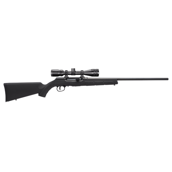 Savage 47011 A17 XP with Scope Semi-Automatic 17 HMR 22 10+1 Synthetic Black Stk Black in.
